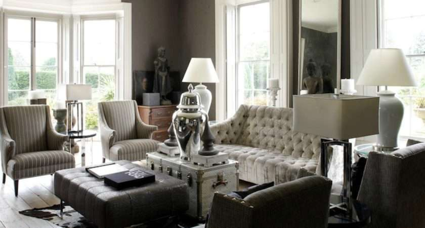 Touch Luxe Living Space Taupe White Grey
