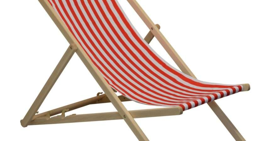 Traditional Adjustable Garden Beach Style Deck Chair