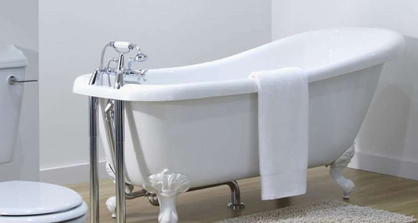 Traditional Bathroom Freestanding Roll Top Slipper Bath