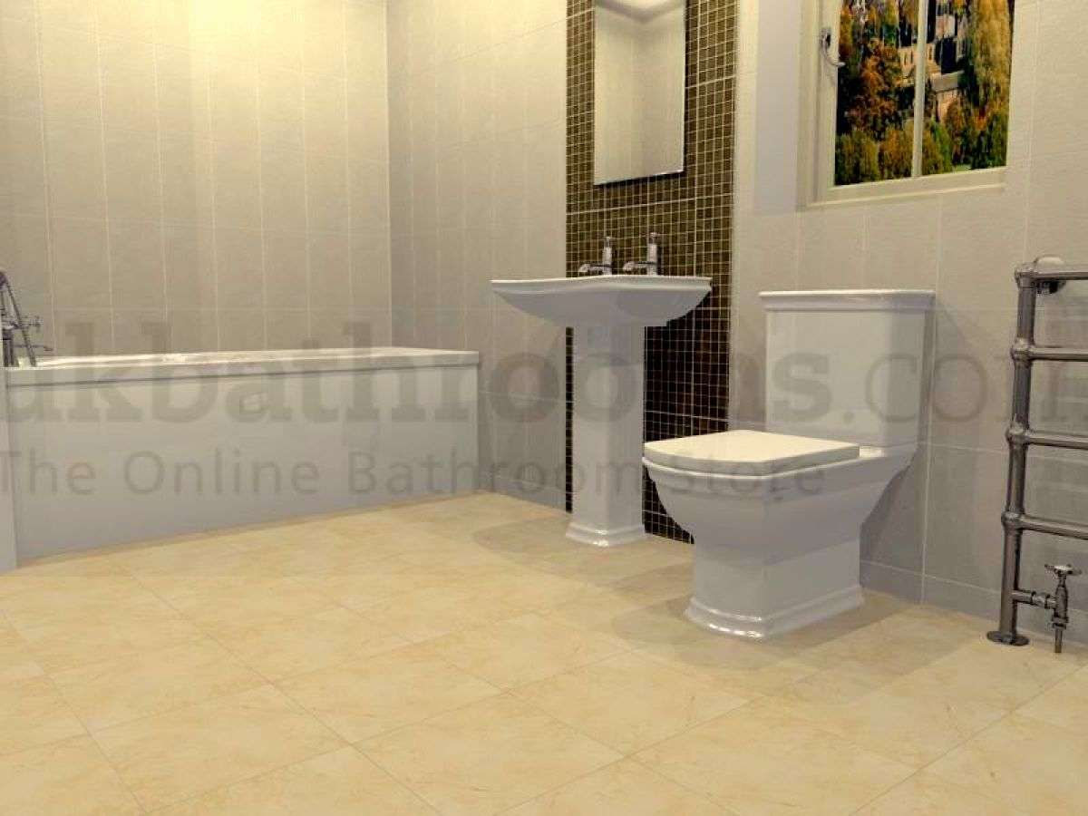 Traditional Complete Basin Bath Shower Suite Bathrooms