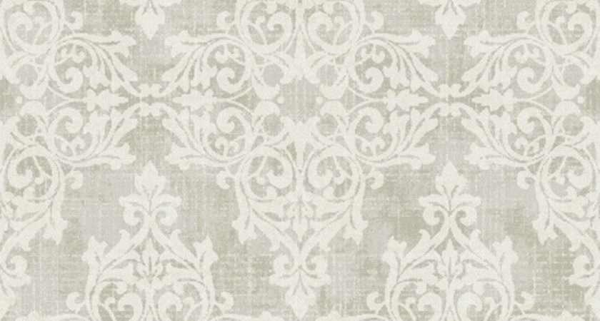 Traditional Damask Grey Neutrals Design Seabrook