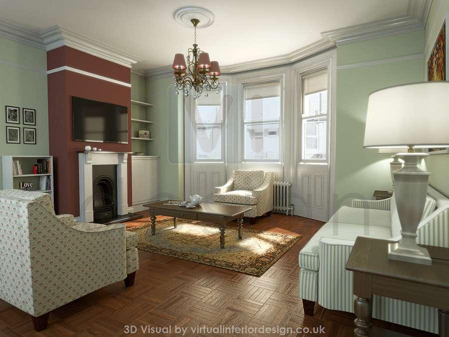 Traditional Drawing Room Interior Design Virtual