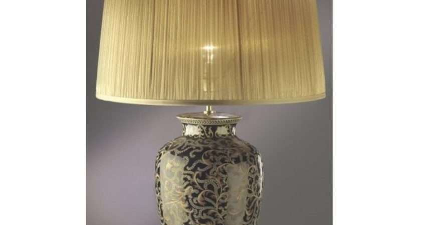 Traditional Gold Black Ceramic Table Lamp Shade