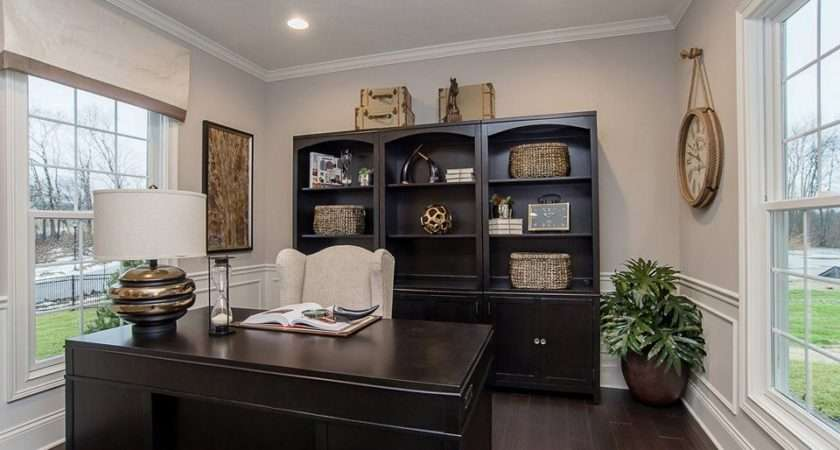 Traditional Home Office Wainscoting High Ceiling