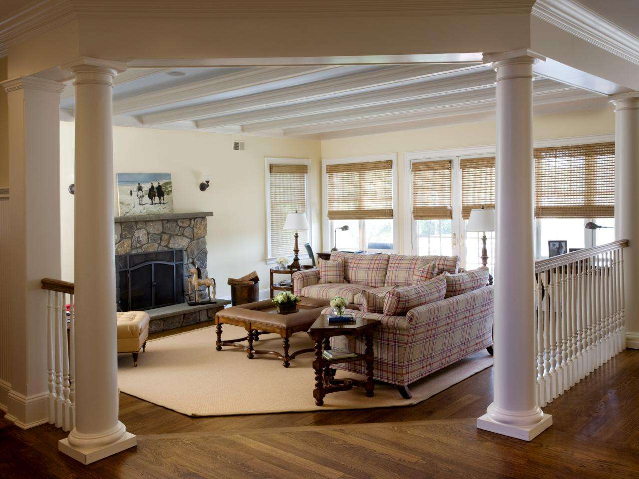 Traditional Living Room Columns Step Down Offers