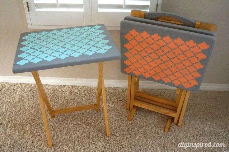 Tray Table Upcycle Stencils Trash Treasures Pinterest