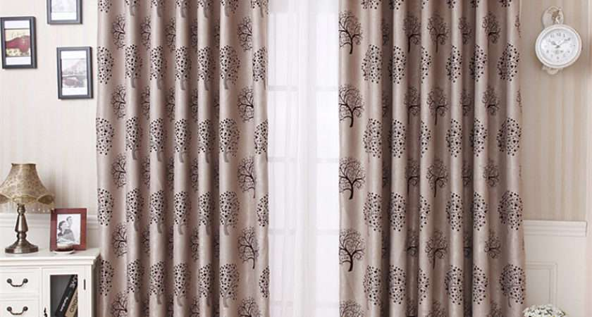 Tree Patterns Country Bedroom Curtains Style Print