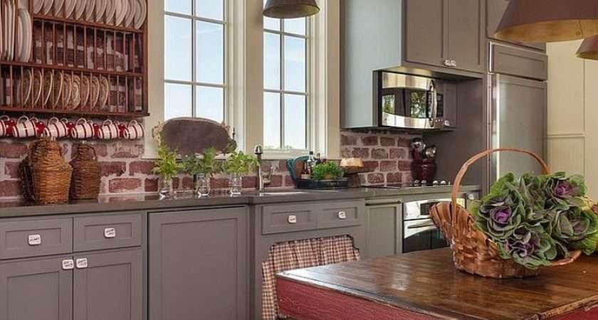Trendy Timeless Kitchens Beautiful Brick Walls