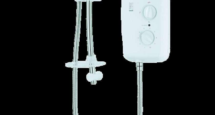Triton Eco Slimline Electric Shower White Chrome