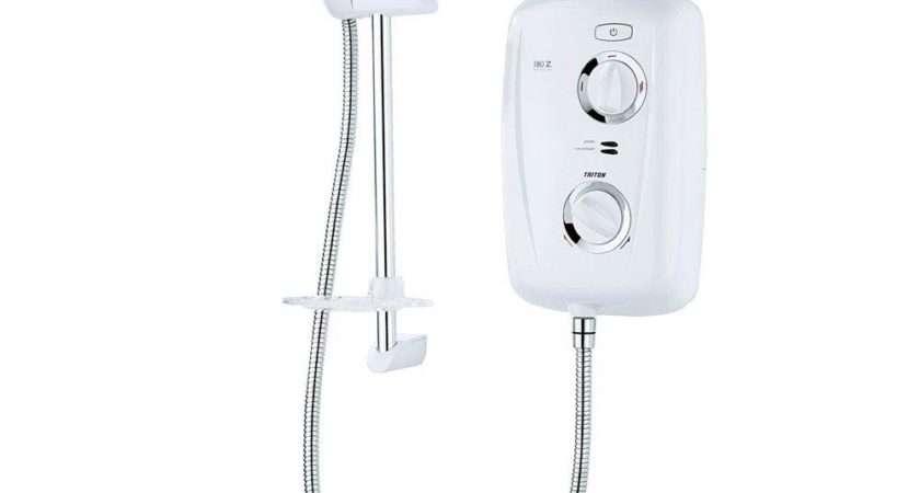 Triton Electric Shower White Chrome