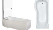 Trojan Zeya Shaped Shower Bath Inc Panel