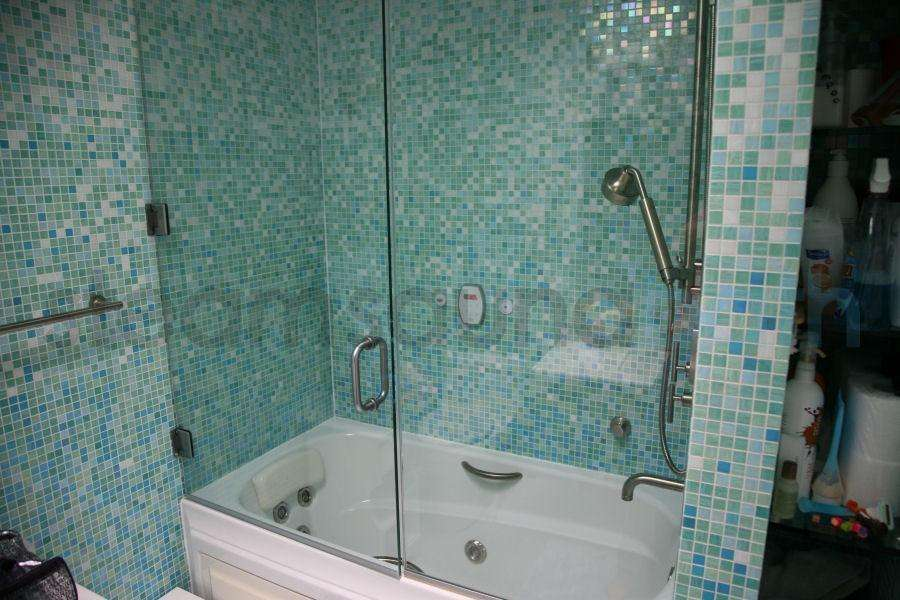 Tub Frameless Steam Shower Swing Door Side Panel