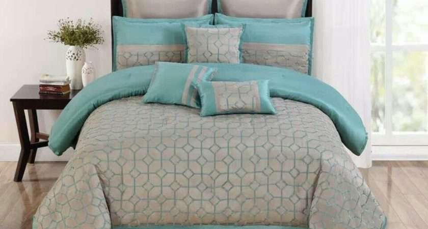 Turquoise Gray Bedding Set Home Pinterest