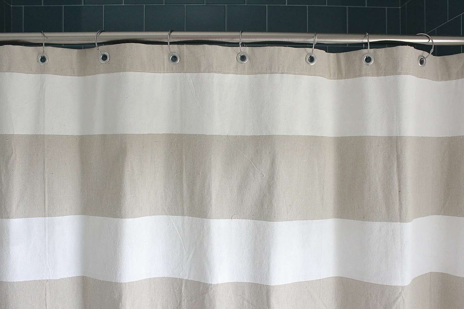 Tutorial Dropcloth Shower Curtain Made