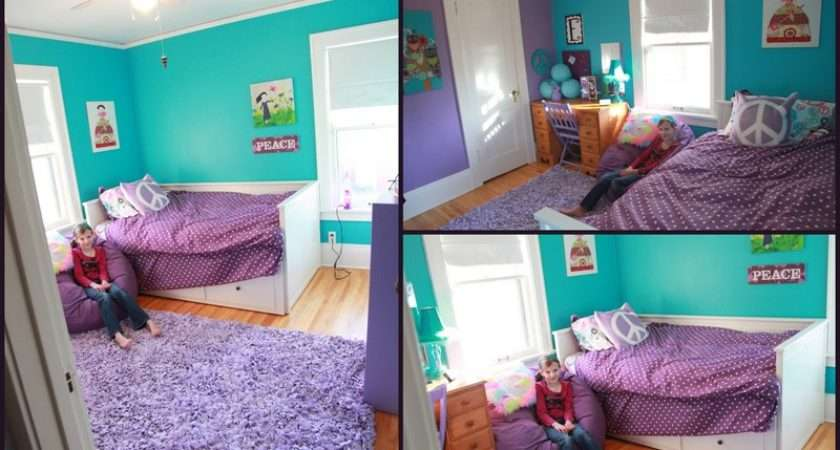 Tween Bedroom Makeover Turquoise Purple Girls