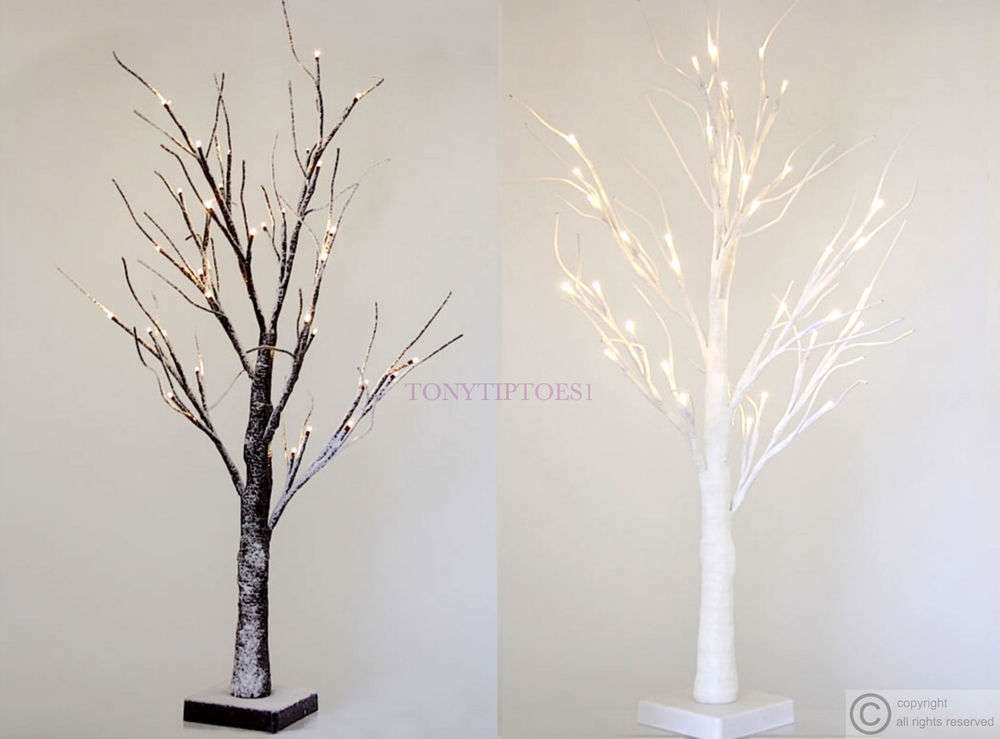 Twig Tree Led Lights Wedding Wishing Christmas Easter Snowy White