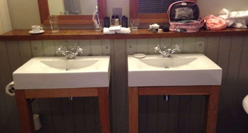Twin Sinks Lovely Wood Home Pinterest