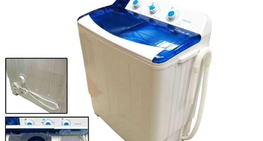 Twin Tub Portable Washing Machine Wash Spin Caravan Boat