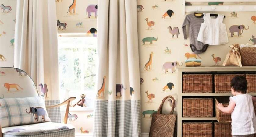 Two Childrens Animal Curtain Fabric