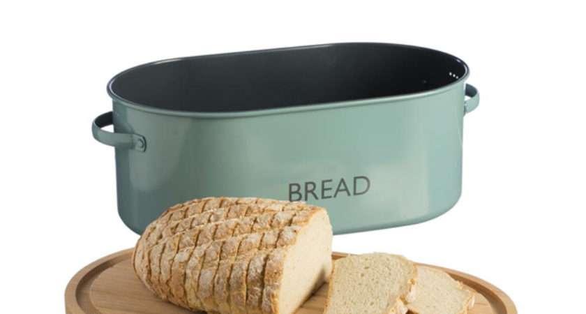 Typhoon Vintage Kitchen Blue Bread Bin Love Tiki Barware