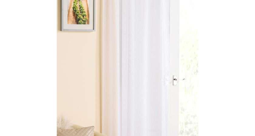 Tyrone Casablanca Pair Voile Curtains White Next