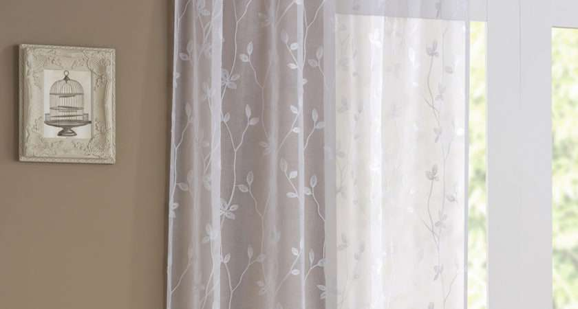 Tyrone Florence Pair Voile Curtains White Next Day