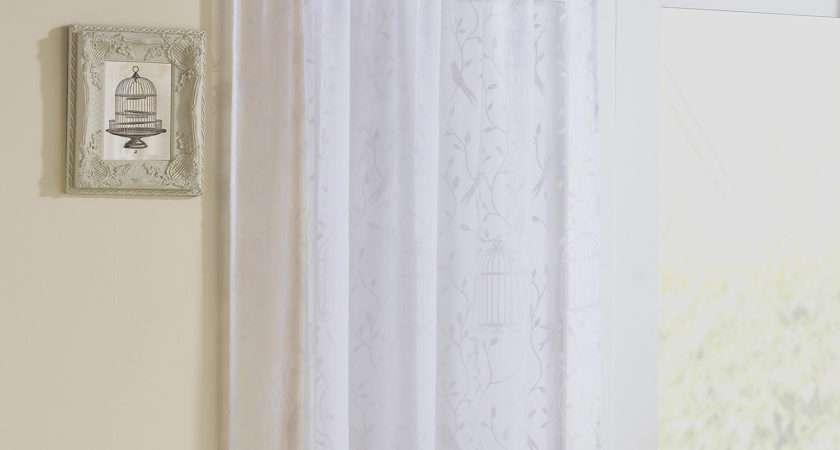 Tyrone Nightingale Pair Voile Curtains White Next