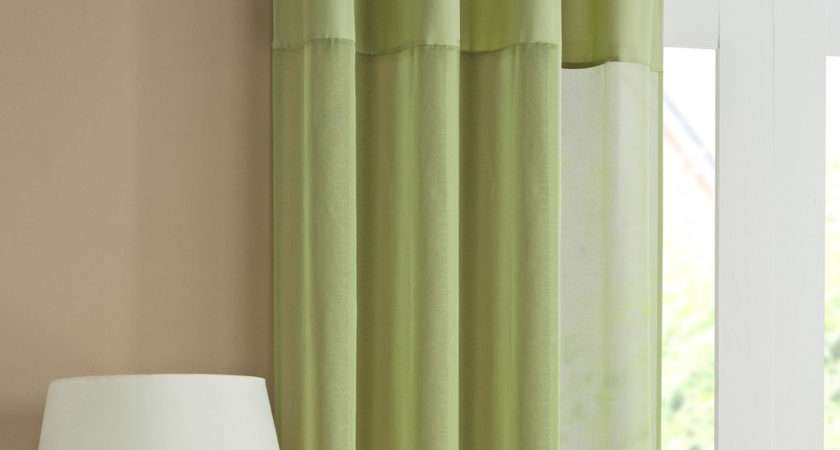 Tyrone Rio Pair Voile Curtains Lime Next Day