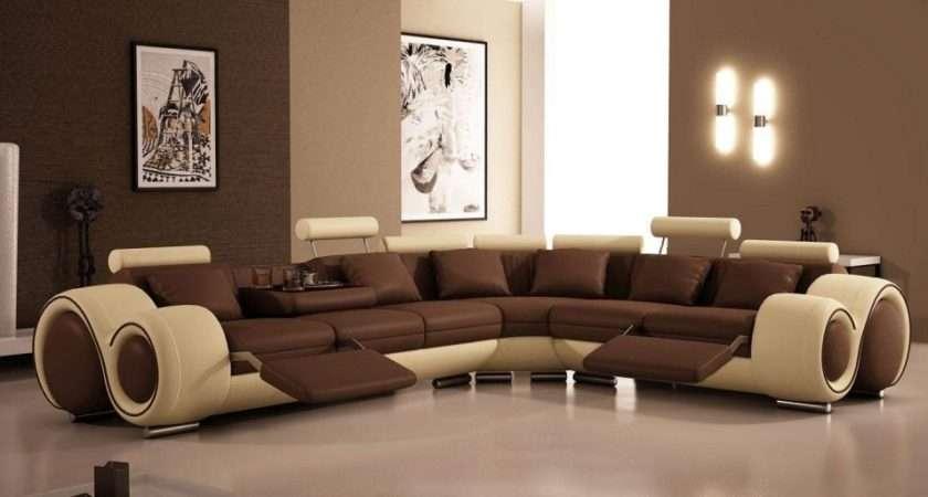 Ultra Modern Living Room Design Wall Artwork Great Brown Sofas