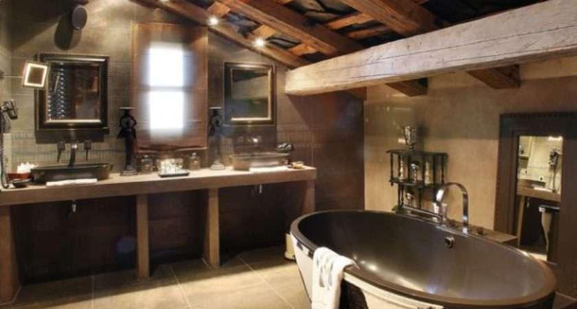 Ultra Rustic Bathrooms