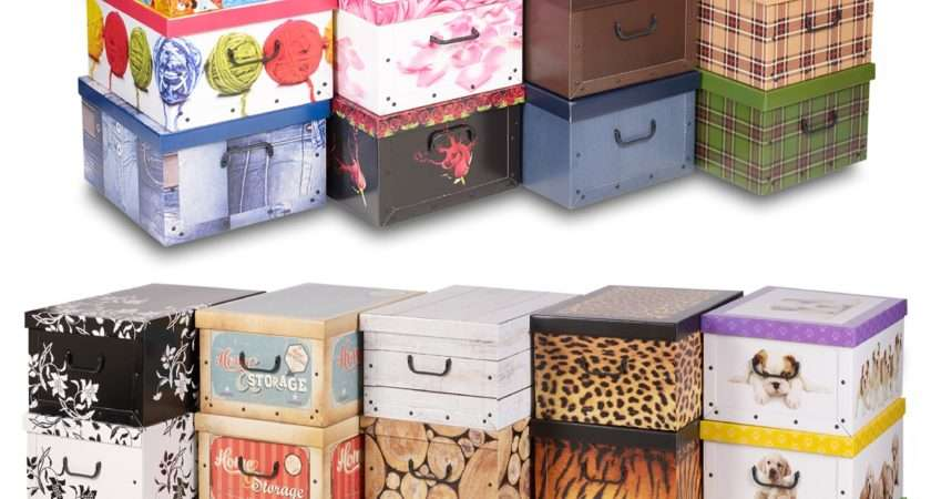 Underbed Collapsible Cardboard Storage Boxes Lightweight