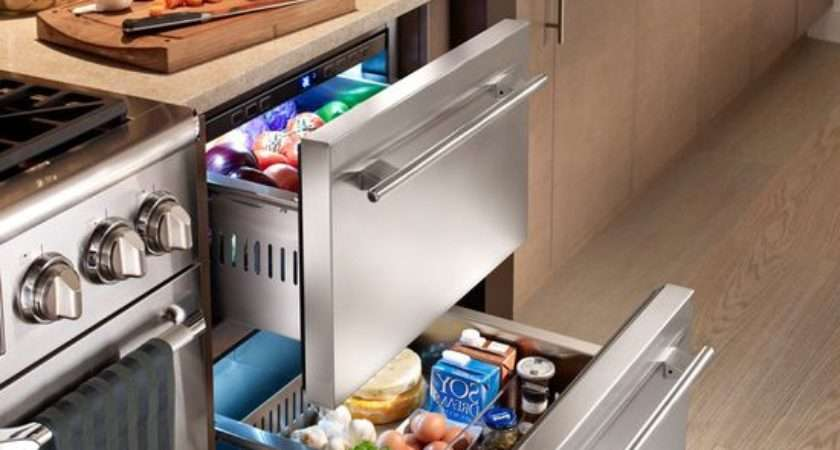 Undercounter Refrigerator Modern Kitchen Small House