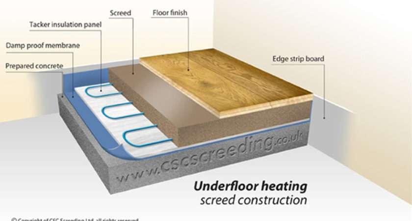 Underfloor Heating Introduction Csc Screeding