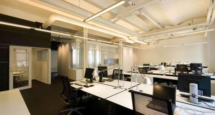 Unique Modern Office Dark Color Interior Design