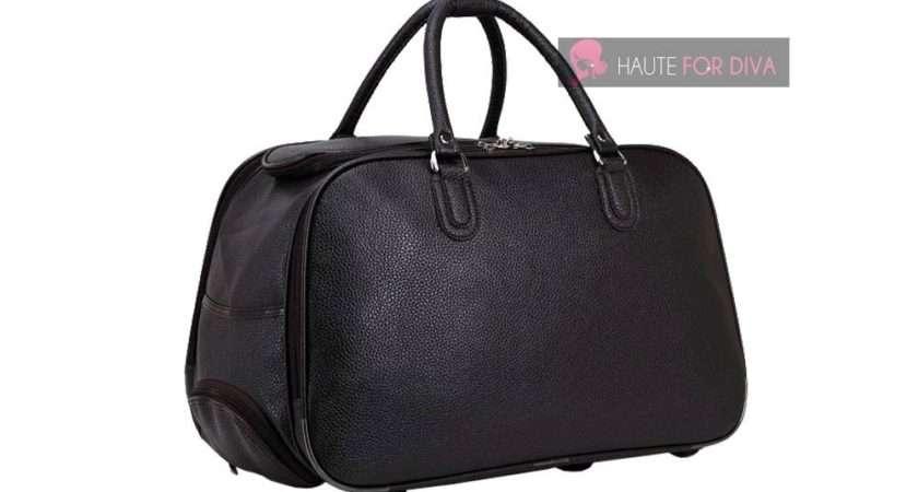 Unisex Men Ladies Faux Leather Small Medium Wheeled