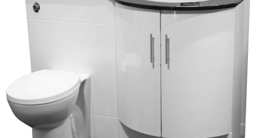 Unit Suite Btw Toilet Seat Cistern Solid Black Granite Top Ebay