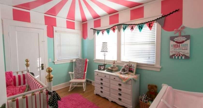 Unusual Bright Circus Ceiling Room Kidsomania