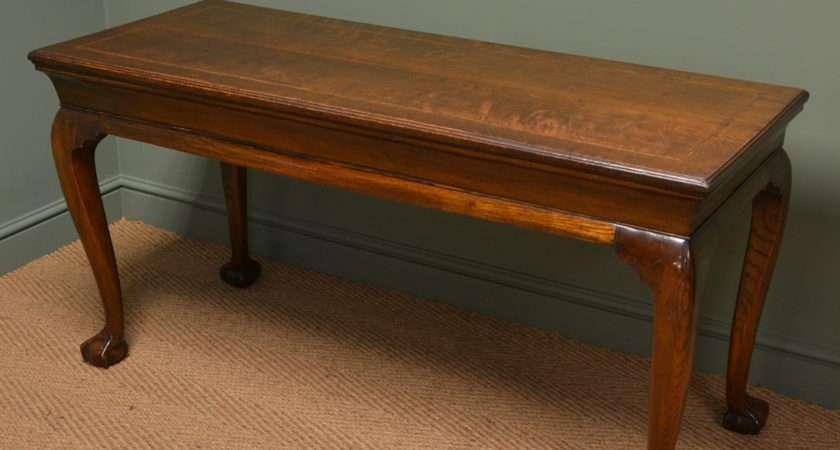 Unusual Large Victorian Oak Antique Console Table