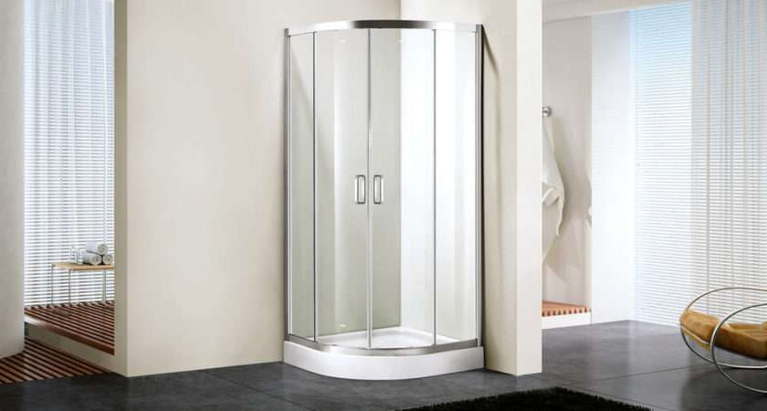 Uomere Shower Enclosure Quadrant Tough Tempered Glass