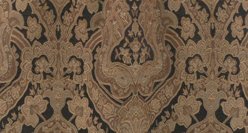 Upholstery Fabric Traditional Jacquard Chenille Brown Black Neutrals