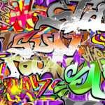 Urban Graffiti Art Wall Mural