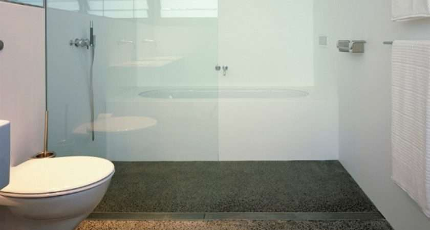 Using Concrete Bathroom Floor Change Look Your