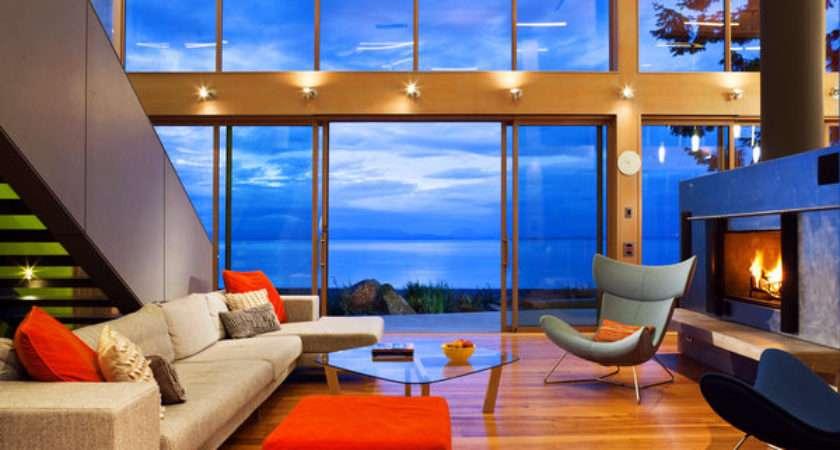 Vancouver Island House Built Around Trees New