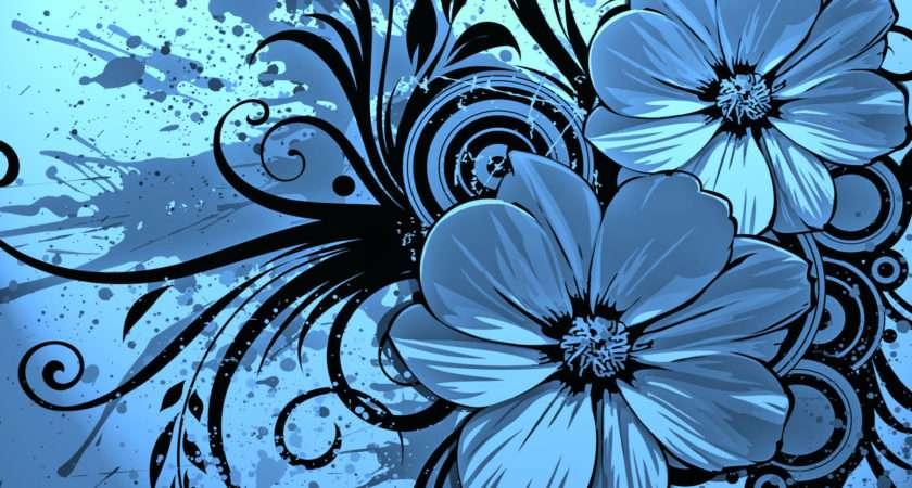Vector Flower Blue