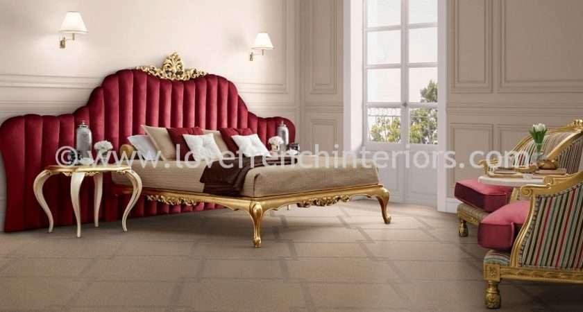 Venezia Bedroom Collection Red Gold Leaf