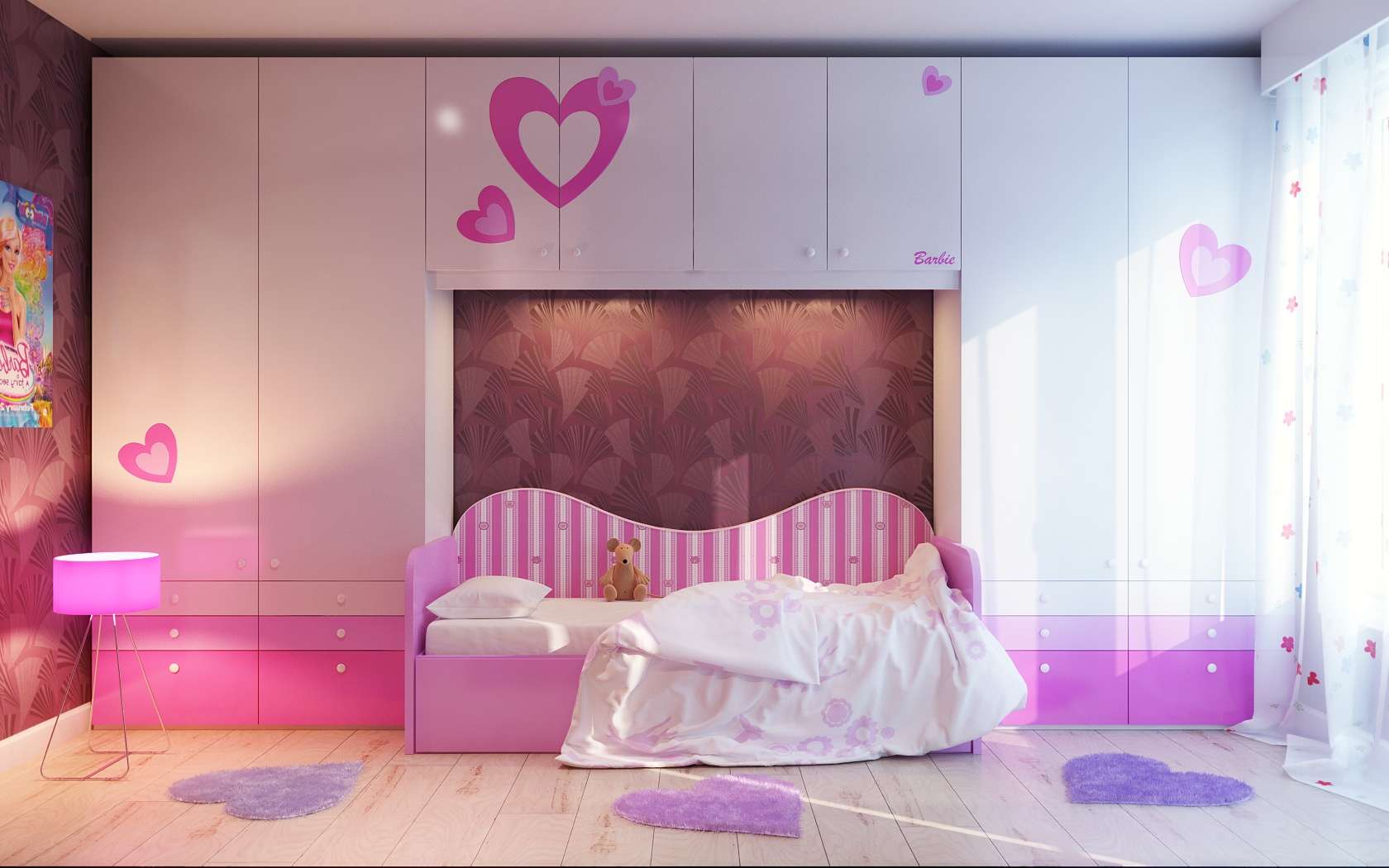 Via Vladomna Barbie Heart Themed Room Pinnacle Girlie