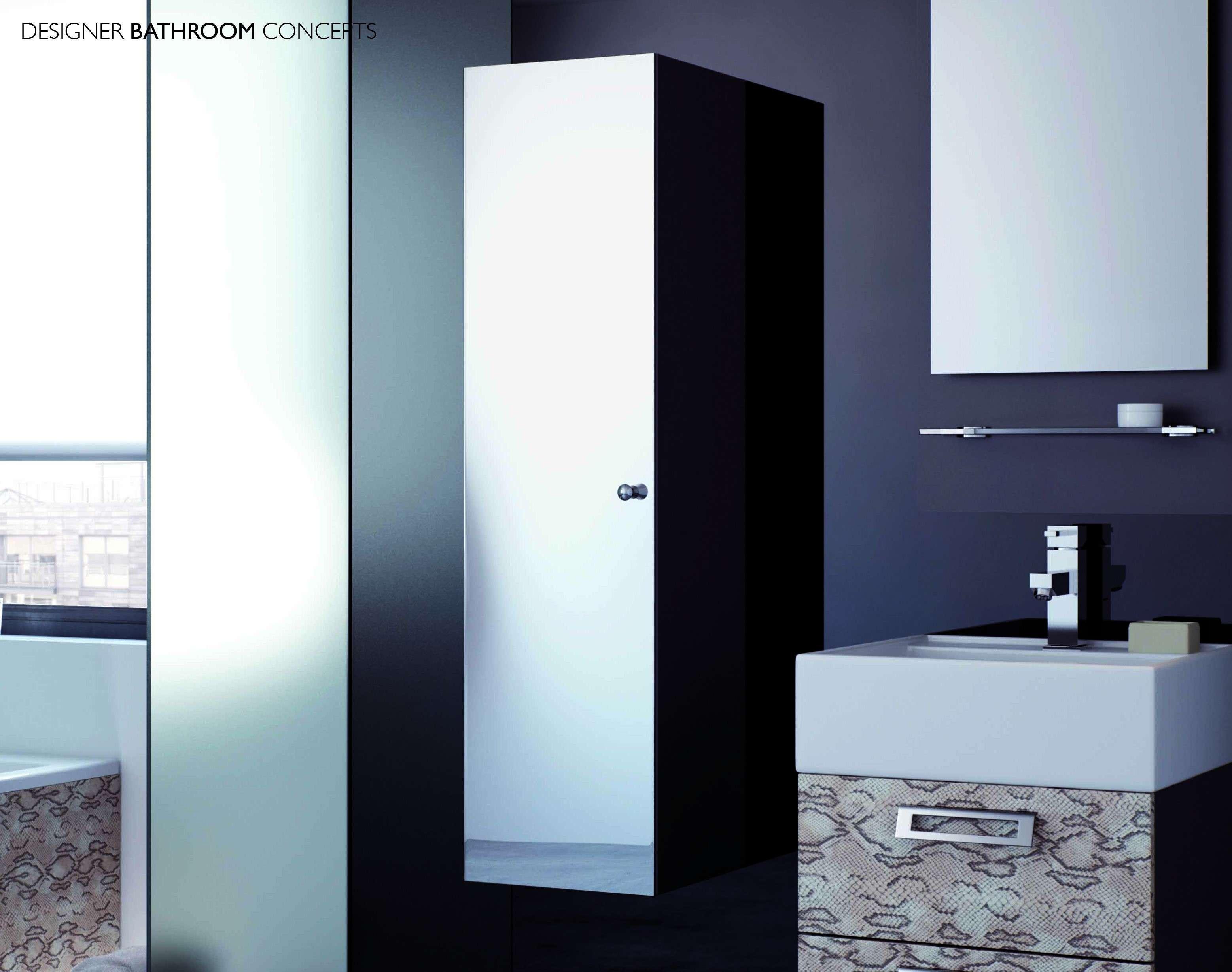 Tall bathroom storage cabinets - Vibe Designer Modular Tall Mirrored Bathroom Cabinet Midi