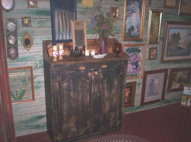 Victorian Rose Primitive Trading Post New Kitchen Cabinet