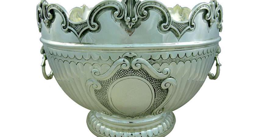 Victorian Silver Punch Bowl