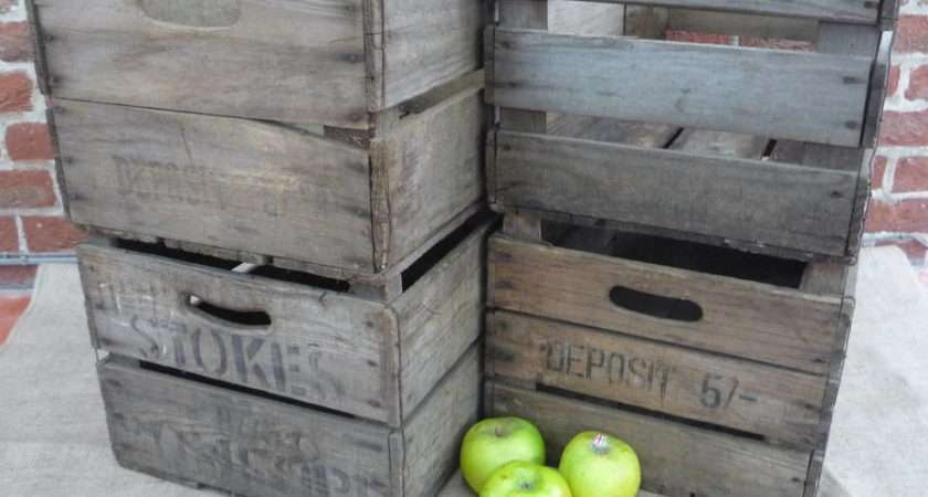 Vintage Apple Crate Crates Notonthehighstreet